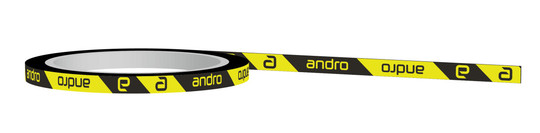 Andro Edge Tape - CI Black/Yellow - 12mm x 50m (100 rackets)
