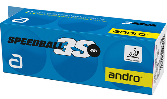 Andro Speedball 3S 3-Star ABS Balls - Pack of 6