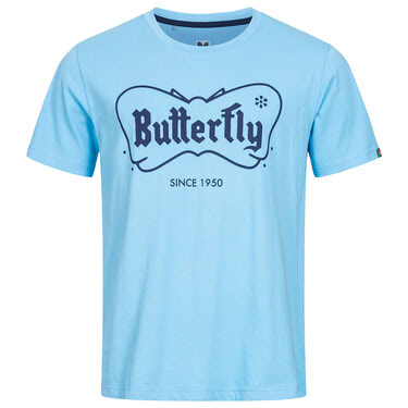 Butterfly 70th Anniversary T-Shirt - Blue