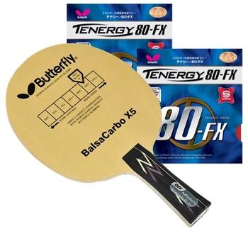 Butterfly BalsaCarbo X5 Proline w/Tenergy 80-FX
