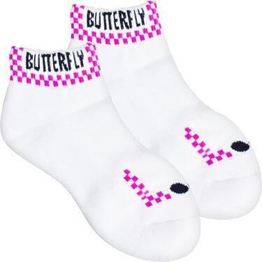 Butterfly Patnarl Socks - Rose