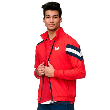 Butterfly Santo Tracksuit Jacket - Red