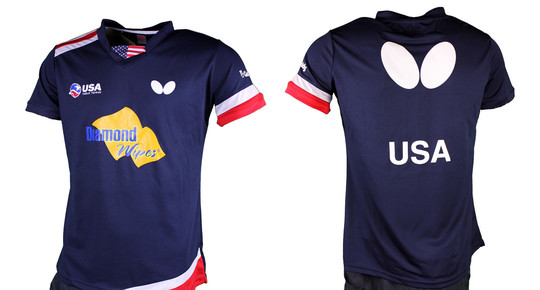Butterfly USA Team 2019 - Lady Shirt - Navy