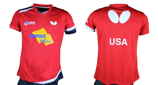 Butterfly USA Team 2019 - Lady Shirt - Red