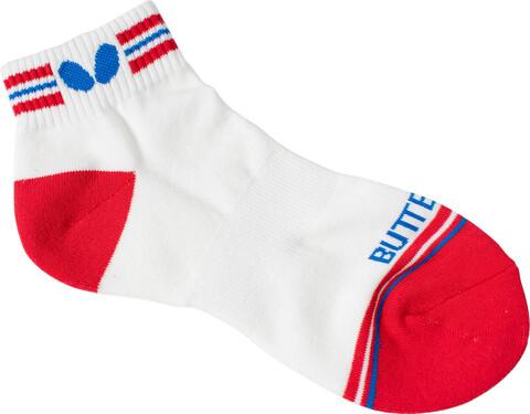 Butterfly X-Stripe Socks - Red