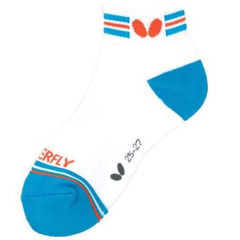 Butterfly X-Stripe Socks - Sky