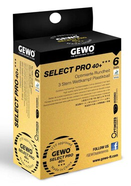 GEWO Select Pro 40+ ABS 3 Star Balls - Pack of 6