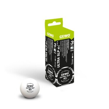 GEWO Ultra SLP 40+ 3-Star Balls - Pack of 3