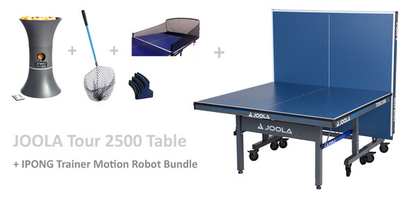 JOOLA Tour 2500 w/IPONG Trainer Motion Robot and Catch Net