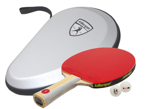 Killerspin Premium Set with Diamond CQ RTG Racket and Balls