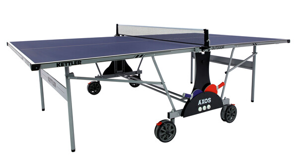 KETTLER Axos Outdoor 1 w/2-Racket Set, Balls and Table Cover