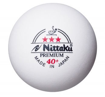 Nittaku 3-Star Premium 40+ Poly Ball - Pack of 6