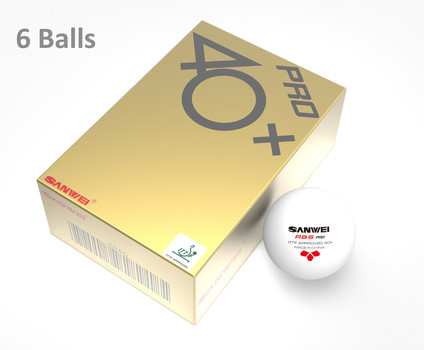 Sanwei ABS PRO 3-Star balls - Pack of 6
